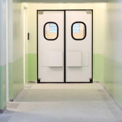 porta vai e vem abs dr300cv hospitalar com vedacao parachoque e visor