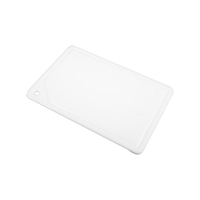 placa de corte com canaleta em polietileno branca 1 face 1x25x37 cm pronyl 106 8bfaefe39ac4607cfed04226a44c353c