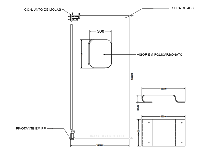 esquema tecnico porta vai e vem abs macam brasil parte 2