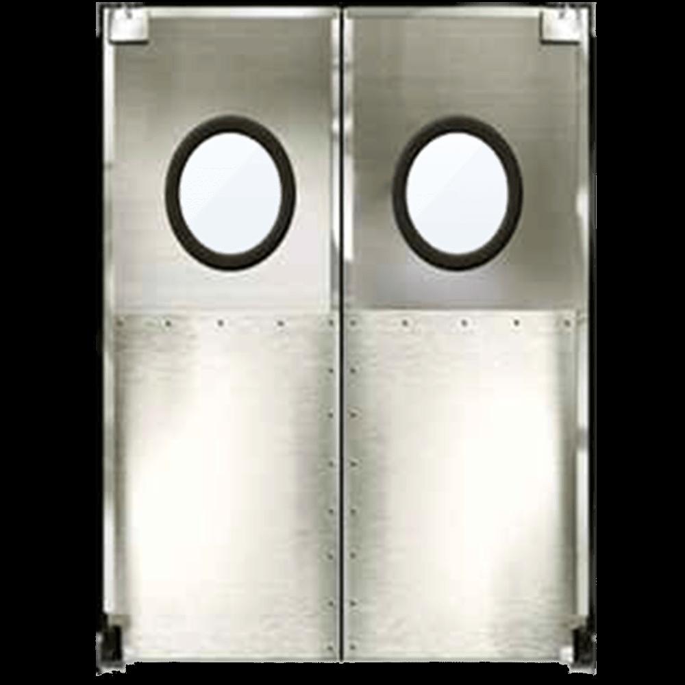 porta vai e vem drinox porta feita em aco inox macam brasil